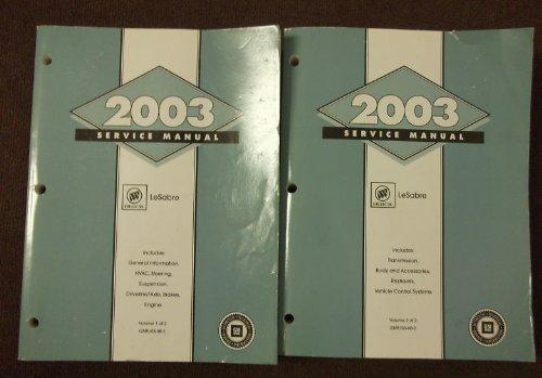 2003 Buick LeSabre Shop Repair Service Workshop Manual Set OEM