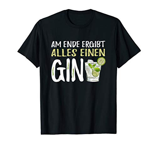 T-Shirt Gin - GinTonic Alkohol Tonic Spruch