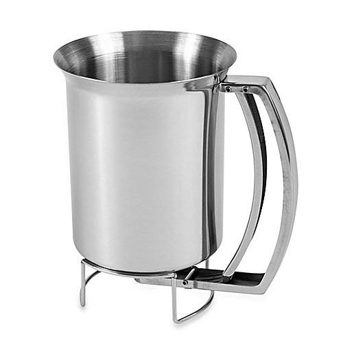 Professional Stainless Steel Pancake Batter Dispenser - Great for Baking,Cupcakes, Muffins-Cooking Crepes,Waffles,Cooking Crepes and Waffles,800ml
