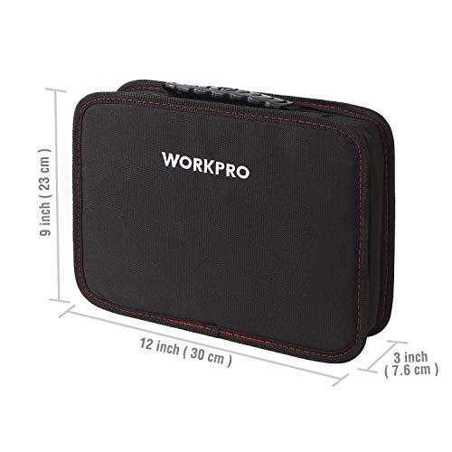 WORKPROホームツールセットガレージツールセット家具の組み立て&住まいのメンテナンス用家庭用基本工具作業工具セット作業道具セット収納バッグ付き100点組