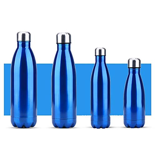 WEIXINMWP 350/300 / 750 / 1000ml Capa Doble Creativa Sin BPA Botella de Agua de Acero Inoxidable Cerveza Té Café Portátil Deportes Vacuum Thermos,3,750ml