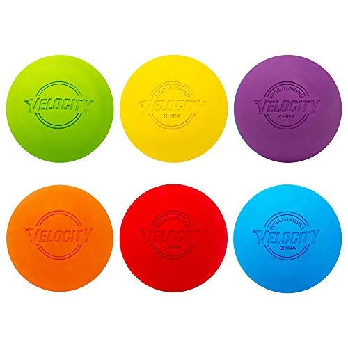 Velocity Lacrosse Balls - Official NFHS, SEI, and College Approved Size - Meets NOCSAE Standard - Approved Competition Colors - Multi Color, 6 Pack