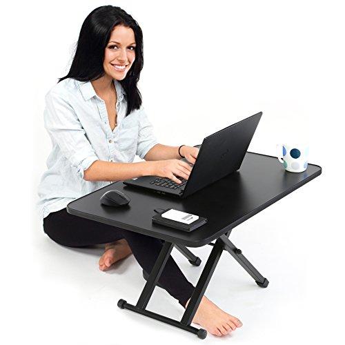 FITUEYES高さ調整可スタンディングデスク昇降式多機能畳オフィスワークテーブル/食卓ダイニングテーブル折りたたみ無段階座位立位両用机上デスクローテーブルパソコン/モニター台幅785mmSD108001MB