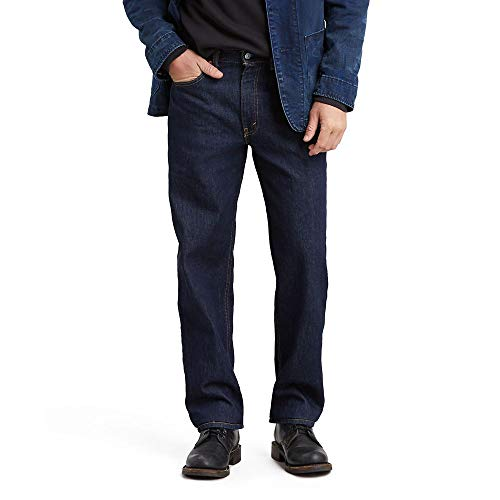 Levi's Big And Tall 550 Relaxed Fit Jean Jeans, Risciacquo – Elasticizzato, 46W x 30L Uomo