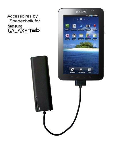 Spartechnik Chargeur de batterie Galaxy Tab Tablet PC. Alimentation externe pour Samsung Galaxy Tab Tablet PC P1000 Tab 7.0 Plus, 8.9, 10.1. Tab 10.1N Galaxy Note, noir
