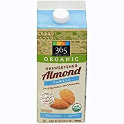 365 Everyday Value, Organic Almondmilk Unsweetened Vanilla, 64 fl oz