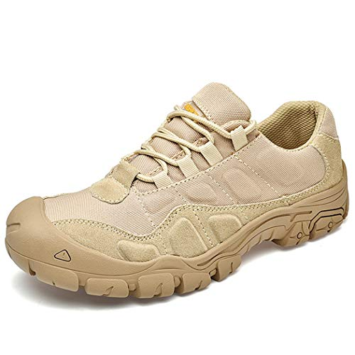 Men's Low-Top Trail Running Shoes, Breathable Hiking Shoes, Suitable for Outdoor Activities, The Best Gift for Husband,Khaki,39