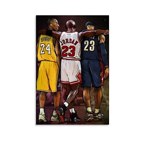 Kobe Jordan and Lebron - Póster de alta definición (50 x 75 cm)