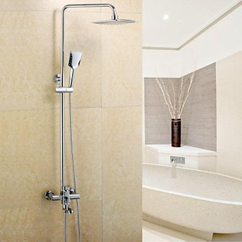 YFF@ILU Dusche Wasserhahn moderne Regendusche Handdusche Messing verchromt, silbrig enthalten