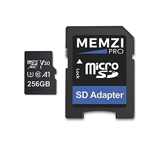 MEMZI PRO Memory Card Compatible for Samsung Galaxy Tab A7 10.4' SM-T500, S7 11' SM-T870, S7+ 12.4' SM-T970 Tablet PC's - microSDXC 100MB/s Class 10 V30 with SD Adapter (256GB U3 V30)