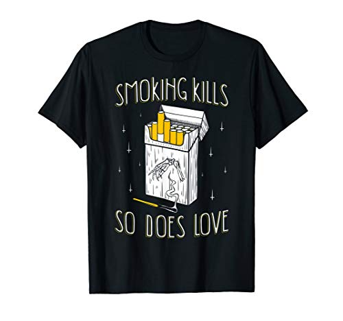 Smoking Kills So Does Love Aesthetic Soft Grunge Clothing T-Shirt