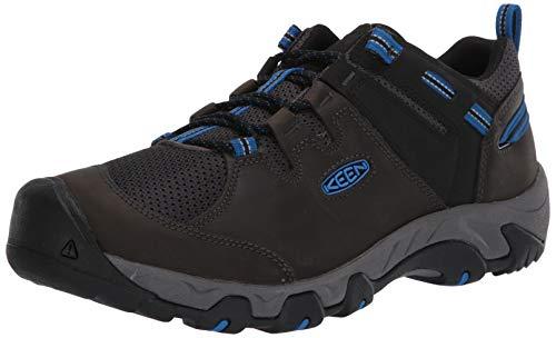 KEEN Men's Steens Vent Hiking Shoe, Black, 12