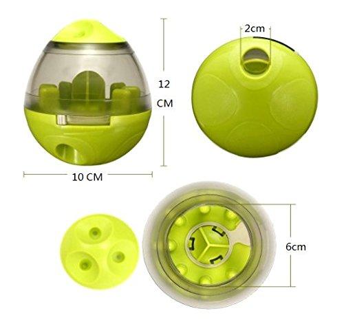 Ewolee Hundespielzeug Ball, Tumbler Spielzeug Haustierfutter Spielzeug Ball ungiftig Bite resistent Spielzeug Ball Intelligentere Interaktive IQ-Behandlung-Kugel Langlebiger Hundespielball - 2