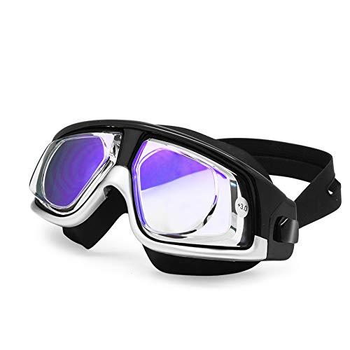 EnzoDate Myopia Hyperopia Gafas de natación Gafas Deportivas Snorkel óptico máscara de Buceo Buceo antivaho Libre de Tapones para los oídos