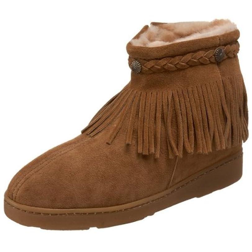 接辞代替案大混乱[ミネトンカ] Minnetonka レディース SHEEPSKIN SIDE ZIP FRINGE BOOT シープスキン ブーツ タン(GOLDEN TAN) US8(24.5-25cm) [並行輸入品]