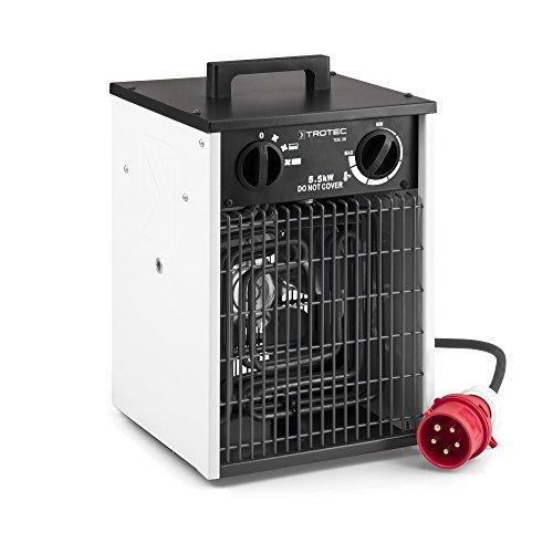 TROTEC TDS 30 Elektroheizer 5,5 kW Heizlüfter Heizgerät Bauheizer mit integriertem Thermostat sowie 2 Heizstufen und Ventilatorfunktion