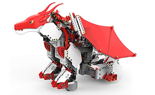 UBTECH JIMU Robot Mythical Series: Firebot Kit/ App-Enabled Building & Coding STEM Robot Kit (606 Pcs), Red