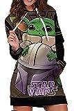 Sudadera con capucha para disfraz de Yoda, con estampado de jersey, talla media, talla XL
