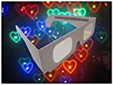 Rob's Super Happy Fun Store Rainbow Hearts Fireworks Diffraction Glasses - 50 Glasses - Paper Frames