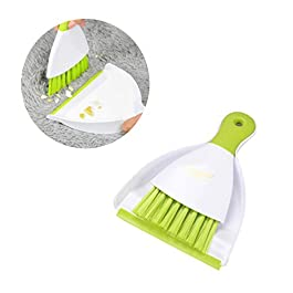 Balacoo Mini Dustpan and Broom Set-Small Animal Cage Cleaner for Reptile-Rabbit-Guinea Pig-Hedgehog-Hamsters and Other Small Animals Cleaning Tool