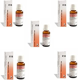 5 Lots X Dr.Reckeweg R18 22Ml Homeopathic Medicine