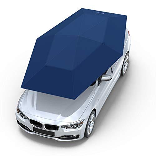 OD-B Auto-Zeltschirm, Komplett automatisch beweglicher Carport faltete tragbare Schutz-Autoabdeckung, drahtlose Fernbedienung Strand Angelschirm mit Anti-UV-Sonnenschutz, wasserdicht, Windschutz