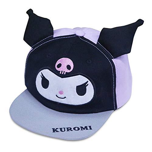 Kuromi Hat, Cute Cartoon Adjustable Baseball Cap Anime Cosplay Headwear for Boys and Girls Purple