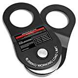 PLIOSAUR 10 Ton Winch Snatch Block Towing Pulley Blocks 22,000 LBS Capacity, Offroad Recovery Accessory for Truck, Tractor, ATV & UTV (Black)
