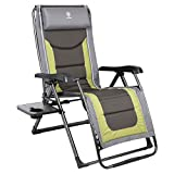 EVER ADVANCED Oversize XL Zero Gravity Recliner Padded Patio Lounger Chair with...