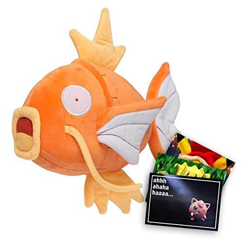 Lively Moments Pokemon Plüschtier / Kuscheltier ca. 20 cm Karpador (Monochrom) und Exklusive GRATIS Grußkarte
