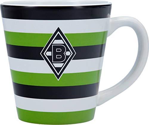 Unbekannt VFL Borussia Mönchengladbach Borussia Mönchengladbach-Fohlenelf-Artikel-Tasse Stripes-Keramik Kaffee, weiß, One Size