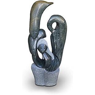 Mystical spiritual Shona Type Stone Sculpture handmade from serpentine Natural stone. Unicum Height 91 cm / 59 kg:Labuttanret