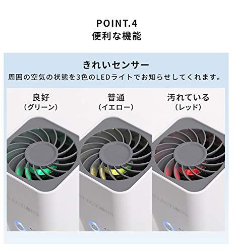 T-SELECTIONS超強力ポータブル空気清浄機T-005730ホワイト