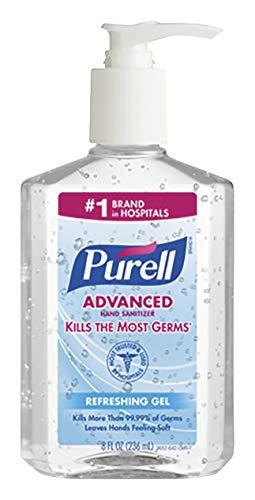 GOJO PURELL Instant Hand Sanitizer, 8-oz. Pump Bottle
