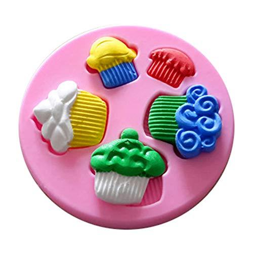 ZPZZPY Forma De Crema 3D Molde De Silicona para Hornear Fondant Chocolate Jello Jelly Moldes De Confitería Herramientas De Decoración De Pasteles
