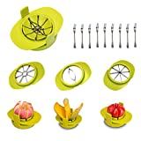 M-Aimee Apple Corer Slicer Cutter/Tomato Mango Slicer/4 In 1 Stainles Steel Multifunction Kitchen...