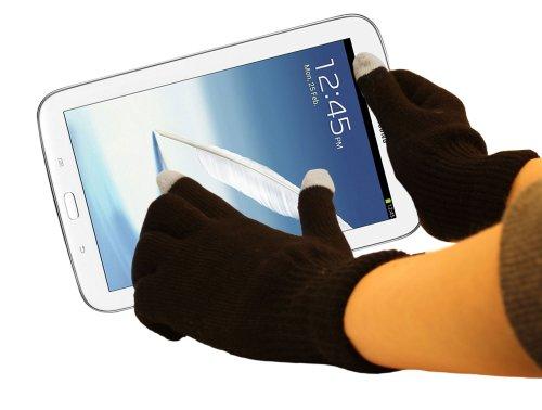 DURAGADGET Gants capacitifs pour écran Tactile LCD spécial Froid pour écran Tactile de Tablette Samsung Galaxy Note 8.0 GT-N5100 et GT-N5110 Android 4.1.2 Jelly Bean (Sortie 2013) - Taille M (Moyen)