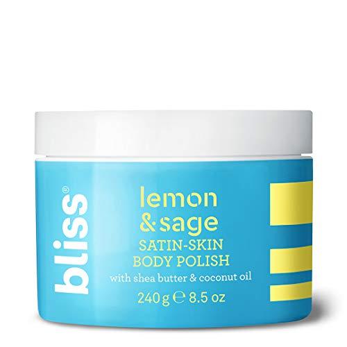 Bliss - Lemon & Sage Satin Skin Body Polish With Shea Butter & Coconut Oil | Smoothing & Balancing Skincare | All Skin Types | Cruelty Free | Paraben Free | 8.5 fl. oz. -  Body Polish- Lemon Sage