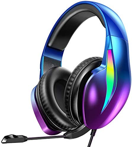 PeohZarr Gaming Headset Xbox One Headset PS4 Headset Aurora Series with Flowing LED Lights 7 product image