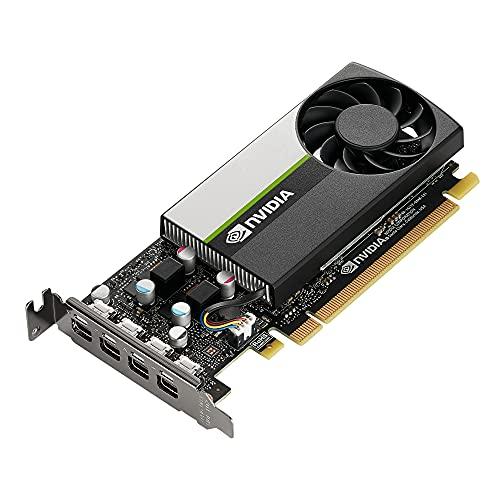 PNY NVIDIA T600 Professionelle Grafikkarte 4GB GDDR6 PCI Express 3.0 x16, Single Slot, 4X Mini-DisplayPort, 8K Support, Ultraleiser aktiver Lüfter