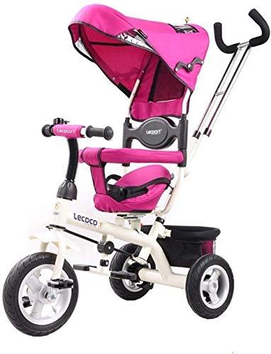Pushchairs Kindertrikes Peuter Tricycle Peuter Fietsen Driewielers voor 2-5 Jaar Ouden Verstelbare Stoel met Luifel Duw Handvat Verstelbare Hoogte Push Ride Tricycle Baby Producten