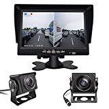 Reversing Camera Kit 7 inch TFT LCD Monitor with 2 Wide-angle 170° Reversing