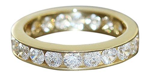Hobra-Gold MEMORYRING GOLD 750 - MASSIVER GOLDRING MIT ZIRKONIA - RING GOLD – BANDRING