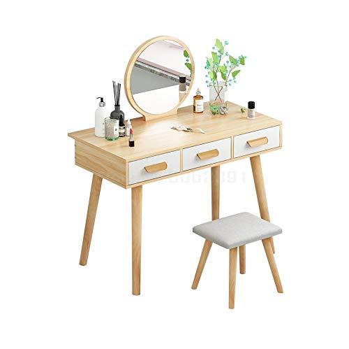 WZHZJ Tocador Dormitorio pequeño Mini Tabla cosmética Recibir Simple Gabinete Moderna Cabina cosmética Tabla cosmética (Color : A)