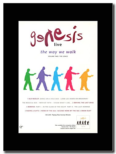Genesis - Live...The Way We Walk...The Longs ...Magazin Promo auf einem schwarzen Berg