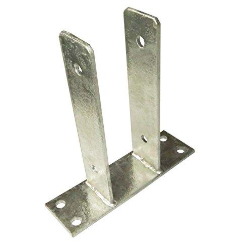 U-Pfostenträger 91 mm zum Aufdübeln für Pfosten 9x9 cm von Gartenpirat®