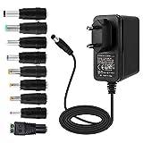 EFISH 12V 2A 24W Adaptateur d'alimentation du transformateur,pour Les appareils ménagers,CCTV Camera,Routers,Hubs,LED Strips,Telekom,T-COM,Speedport,Radiowecker,Scanner,Switch+9 Différents Bouchons