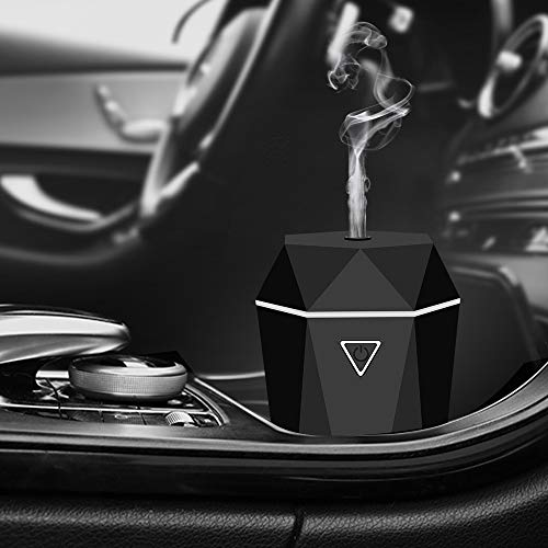 Rovtop Mini USB Diffusore Auto Umidificatore Diffusore ultrasonico di Oli Essenziali Nebbia Fresca d Aria Senz acqua Spegnimento Automatico per Auto Camera da Letto con Caricatore per Auto