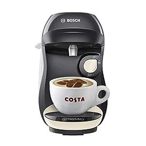 Tassimo Bosch TASSIMO Happy TAS1007GB Coffee Machine, 1300 Watt, 0.7 Litres - Cream
