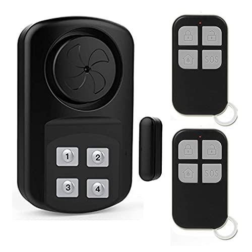 EverNary Door Gate Pool Alarm with Remote Control Wireless Weatherproof Outdoor Sensor Alarm for Inground Pool,Fence,Home,Kids Safety